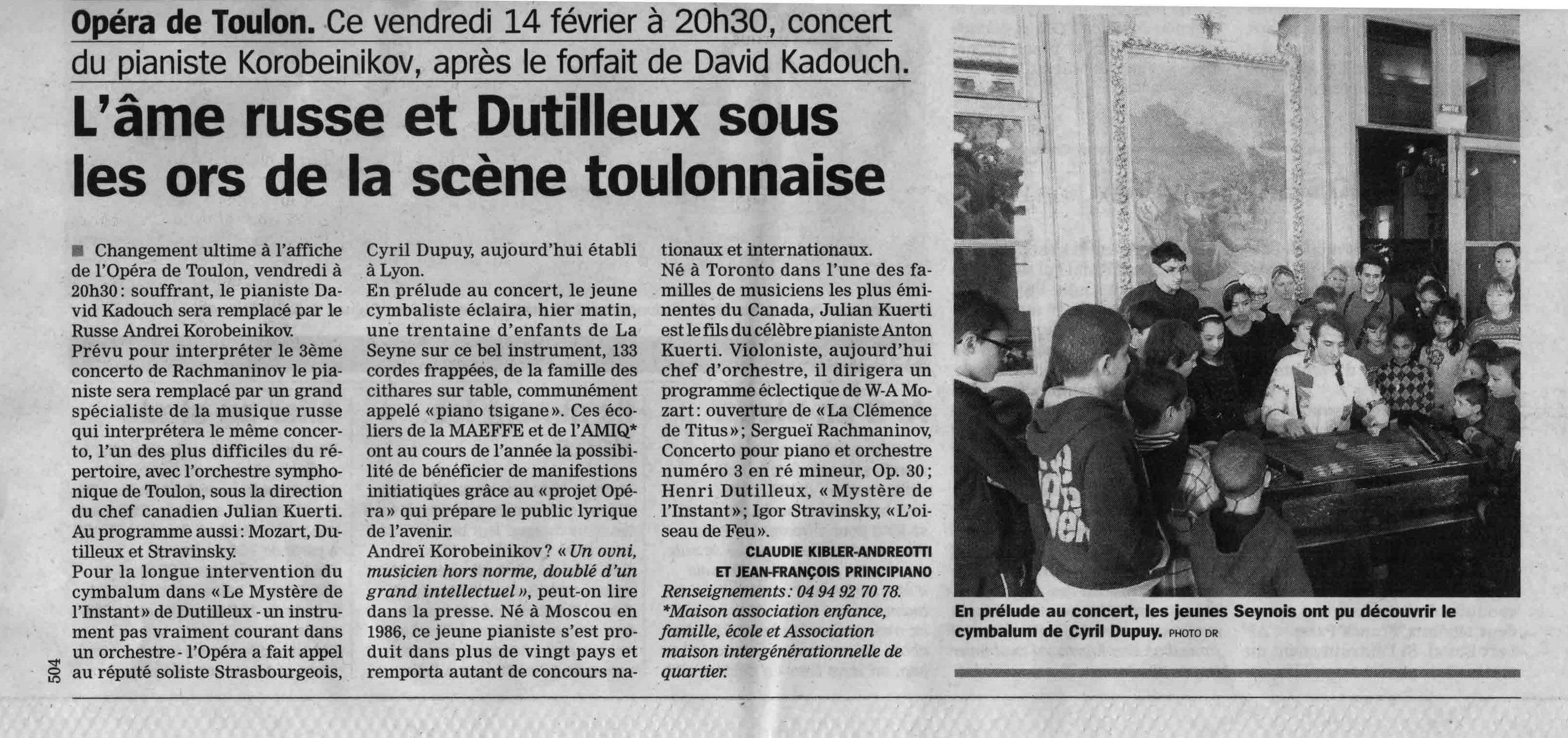 2014-02-13 - Article La Marseillaise
