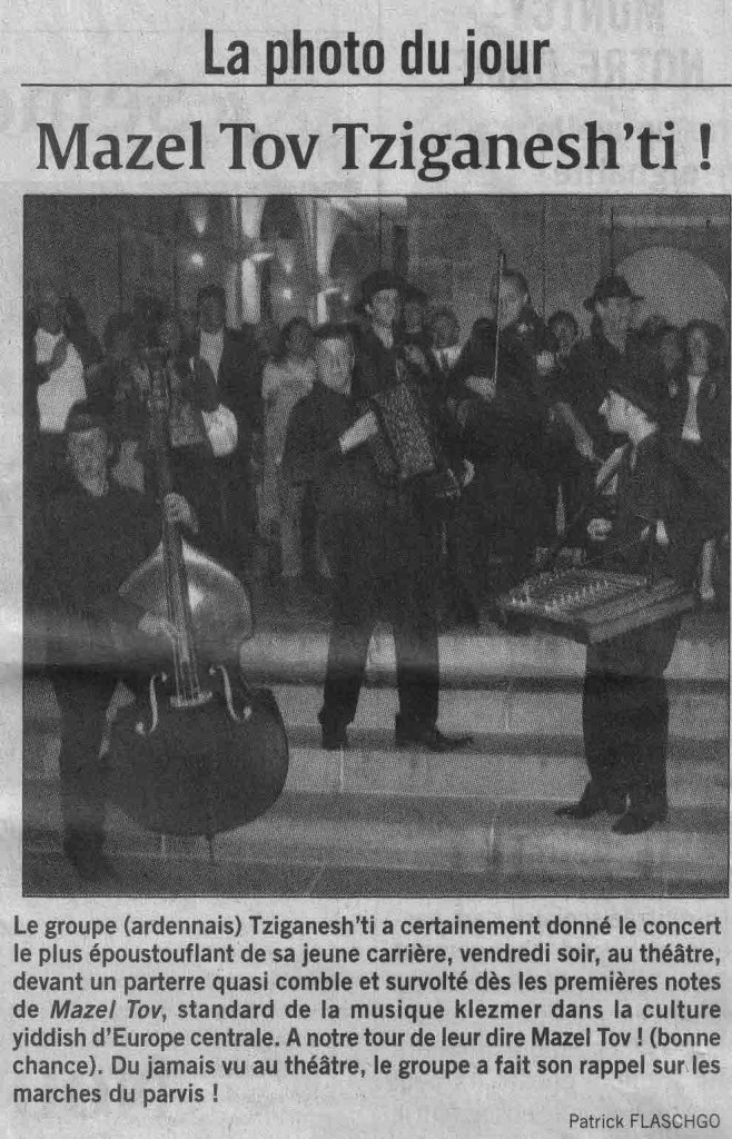 Tziganesh'ti - Article L'ardennais - 17.09.07
