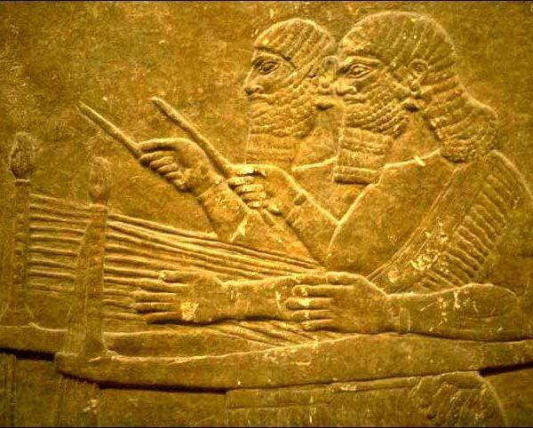 Détail d'un relief du palais de Sennacherib à Ninive, 700 ans avant J.C.