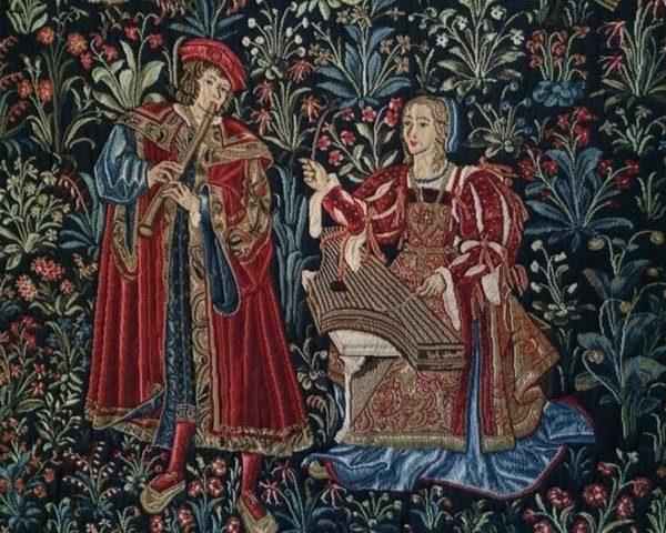 Tapisserie type Mille Fleurs, Italie,(1460-1565)